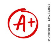 grade a plus result vector icon.... | Shutterstock .eps vector #1342763819