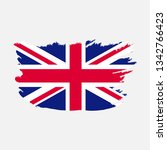 flag of united kingdom with... | Shutterstock .eps vector #1342766423