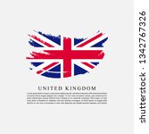flag of united kingdom with... | Shutterstock .eps vector #1342767326