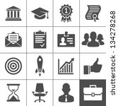 Business career icons. Vector illustration. Simplus series