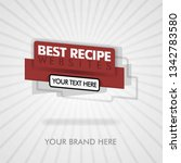 best recipe banner and cover... | Shutterstock .eps vector #1342783580
