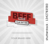 beef recipes for beef barbecue. ... | Shutterstock .eps vector #1342783583