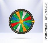 wheel of fortune  icon. vector...   Shutterstock .eps vector #1342786610