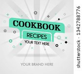 chinese cookbook recipes.... | Shutterstock .eps vector #1342788776