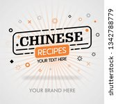 chinese recipes web. chinese... | Shutterstock .eps vector #1342788779
