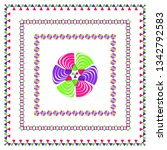 illustration of bright ornament ...   Shutterstock .eps vector #1342792583