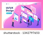 isometric bright concept the...