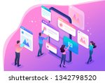 isometric bright concept the... | Shutterstock .eps vector #1342798520