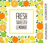 cute citrus fruits lemon  lime... | Shutterstock .eps vector #1342804529