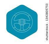 steering wheel icon. outline...   Shutterstock .eps vector #1342805753