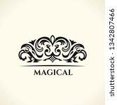 vintage gold logo. flourishes... | Shutterstock .eps vector #1342807466