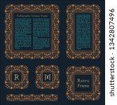 arabic vector set of frames and ... | Shutterstock .eps vector #1342807496