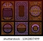 vintage golden vector set retro ... | Shutterstock .eps vector #1342807499