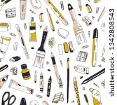 elegant seamless pattern with... | Shutterstock .eps vector #1342808543