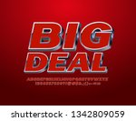 vector business logotype big... | Shutterstock .eps vector #1342809059