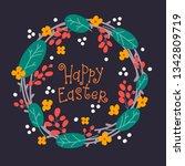 easter holiday poster design... | Shutterstock .eps vector #1342809719