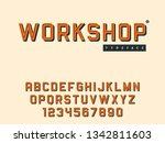 vector latin uppercase alphabet ...   Shutterstock .eps vector #1342811603