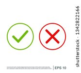 checkmark and x or confirm and... | Shutterstock .eps vector #1342822166