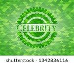 celebrity green mosaic emblem | Shutterstock .eps vector #1342836116