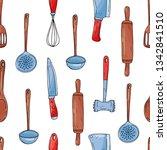 color seamless vector pattern... | Shutterstock .eps vector #1342841510