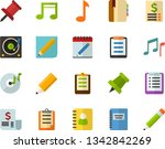 color flat icon set   notebook... | Shutterstock .eps vector #1342842269