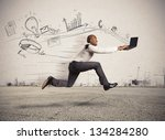 concept of fast business with... | Shutterstock . vector #134284280