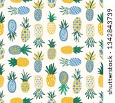 flat seamless pattern with...   Shutterstock .eps vector #1342843739