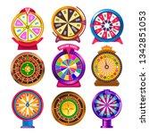 gambling items fortune wheel...   Shutterstock .eps vector #1342851053