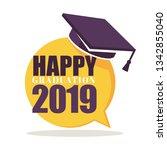 academic hat happy graduation... | Shutterstock .eps vector #1342855040