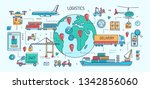 banner template with freight... | Shutterstock .eps vector #1342856060