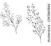 hand drawn vector illustrations ... | Shutterstock .eps vector #1342860866