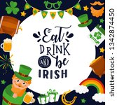 cute colorful st.patrick's day... | Shutterstock .eps vector #1342874450
