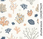 natural seamless pattern with... | Shutterstock .eps vector #1342875629