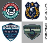 college patch  sport patch | Shutterstock . vector #1342877696