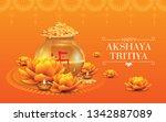 indian religious festival... | Shutterstock .eps vector #1342887089