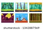 flat vector set of 6 scenes for ...   Shutterstock .eps vector #1342887569