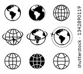 earth vector icons set.... | Shutterstock .eps vector #1342890119