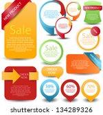 web element set | Shutterstock .eps vector #134289326