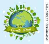april 22  earth day background... | Shutterstock .eps vector #1342897496