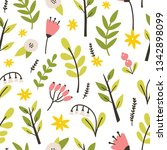 floral seamless pattern with... | Shutterstock .eps vector #1342898099