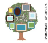 my family genealogy tree with... | Shutterstock .eps vector #1342898276