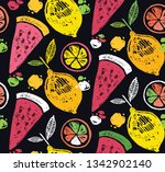 hand drawn doodle tropical...   Shutterstock .eps vector #1342902140