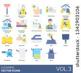 cleaning icons including... | Shutterstock .eps vector #1342903106
