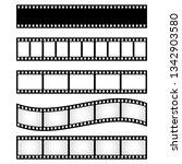 set of film strip frame  vector ... | Shutterstock .eps vector #1342903580