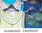 dresses on hangers | Shutterstock . vector #134290370