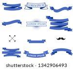 ribbons banner set. flat... | Shutterstock .eps vector #1342906493