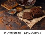 homemade delicious chocolate... | Shutterstock . vector #1342908986