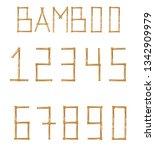 vector bamboo numerals digits...   Shutterstock .eps vector #1342909979