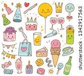 Birthday Doodle In Kawaii Style ...
