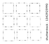 set of vector vintage frames on ... | Shutterstock .eps vector #1342925990